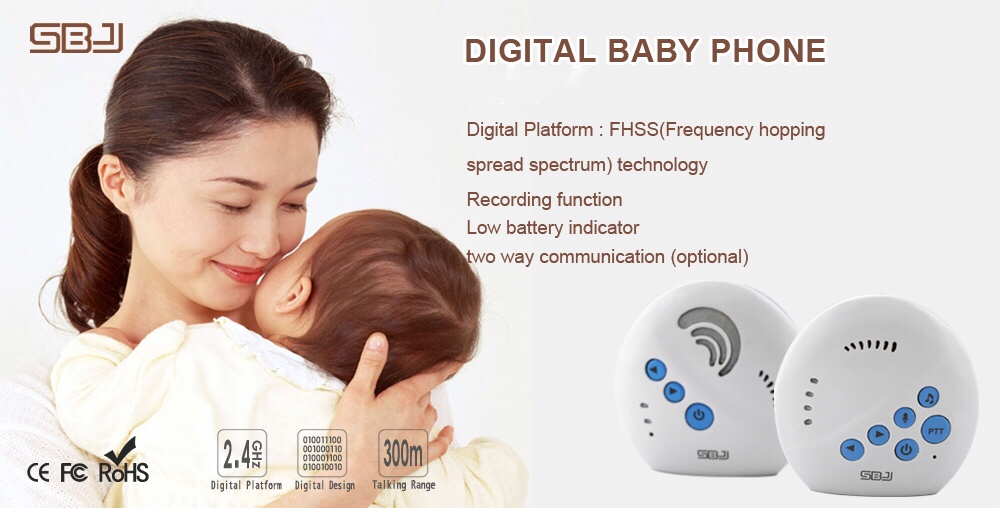 digital recording baby monitor audio indoor home long range communication baby phone