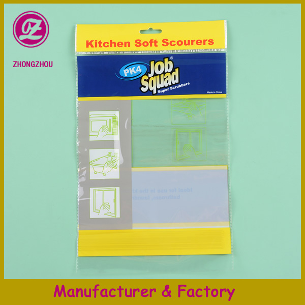 China manufacturer resealable header opp self-adhesive clear plastic bag