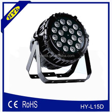 HY-L15D china dj par led outdoor 6 in 1 rgbwa led par 18 x 18w
