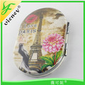Advertising gifts pocket mirror with PU cover