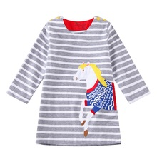 Hot Sale Summer Dress For Baby Girl Cotton Dress Casual Robe for Party Wearing