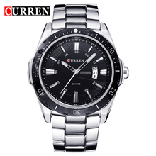CURREN 8110 New Arrive 3 atm Stainless Steel Back Watch Case 316l Branded Watch