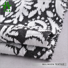 Mulinsen Textile Soft Touch Black White Computer Design Double Knit Jacquard Fabric