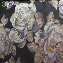 2017 fancy silver metallic jacquard fabric for dress and garment