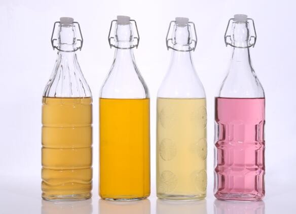 500ml 1000ml Clear Glass Juice Bottle with Airtight Swing Top