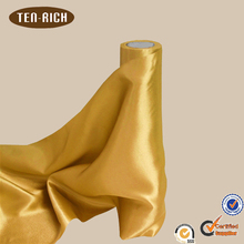 cheap gold satin fabric rolls for chair sash