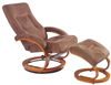 comfortable brown recliner K-1801