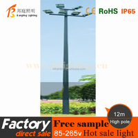 best price modern aluminum housing solar led street lighting pole 10m
