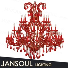 colored glass flower chandelier candle red shade chandelier