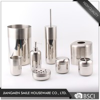 High Quality 6 Pieces Soap Dispenser Toilet Brush Holder accessories Stainless Steel Bathroom Set
