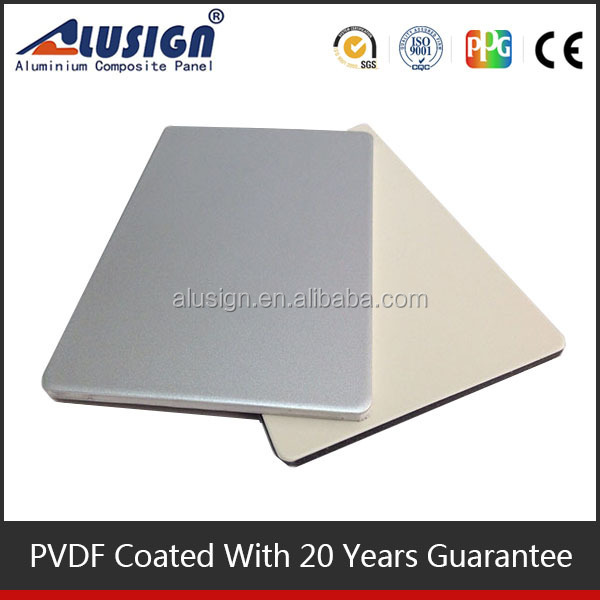Alusign 100% recyclable acm cladding price aluminum composite board fascia panels