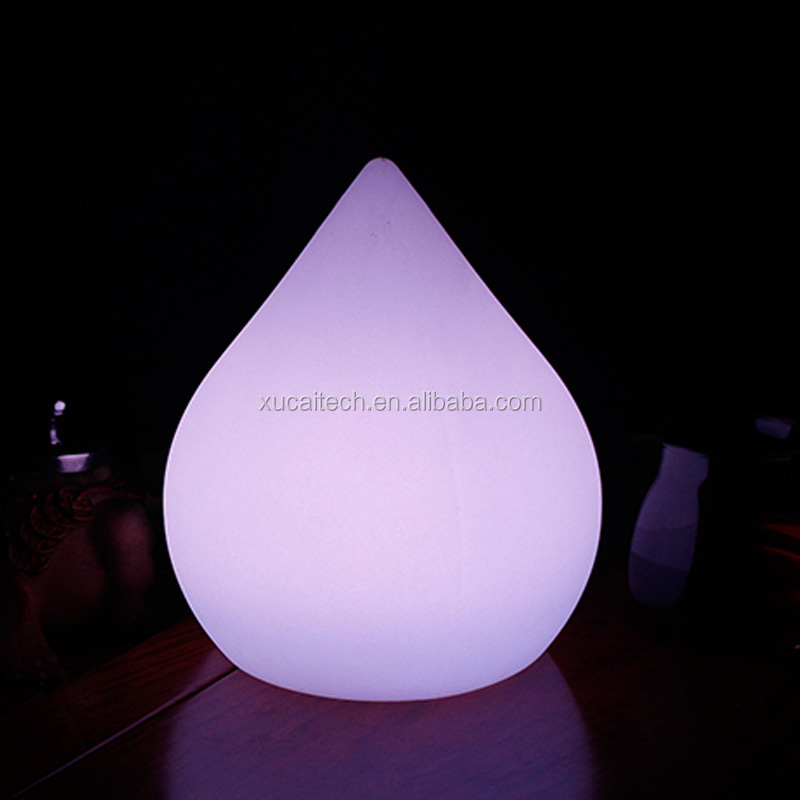 Rechargeable Touch Switch Cordless Peach Shape Colorful LED Table Lamp