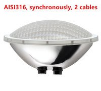 synchronously 2 cables underwater ip68 12v par56 led swimming pool light