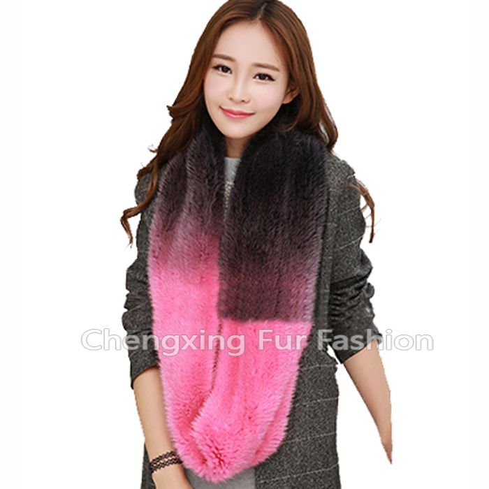 CX-S-158J Custom Factory Direct Sale Fashion Real Mink Fur Winter Scarf