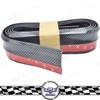 Car Accessories Parts 2.5m Carbon Fiber Bumper Front Lip Skirt Protector With 3M Tape.