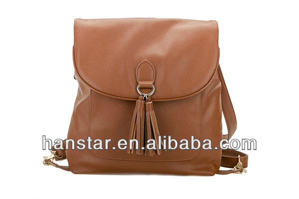 Hot Item 2014 New PU Leather Vintage Women Backpack Shoulder Bag