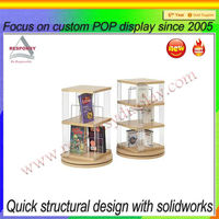Free Stand Rotating Acrylic Greeting Card Display Stand