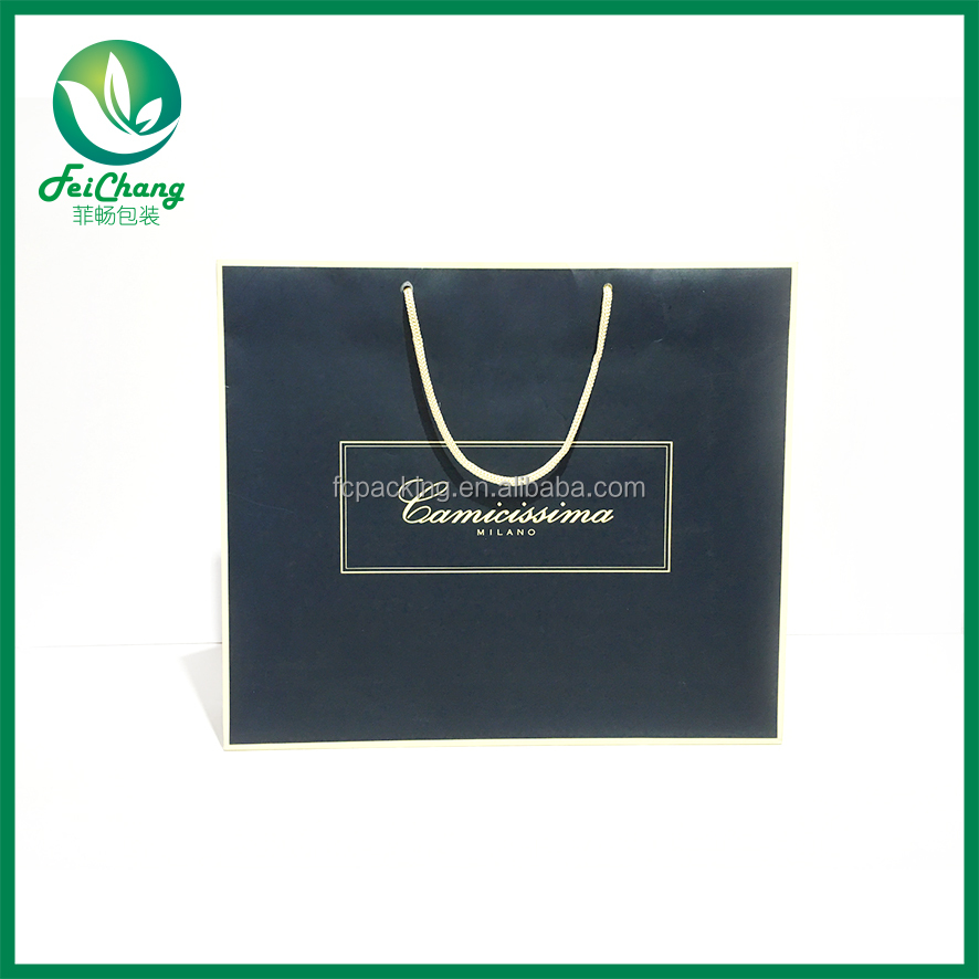china factory price promotional paper designer shopping bag