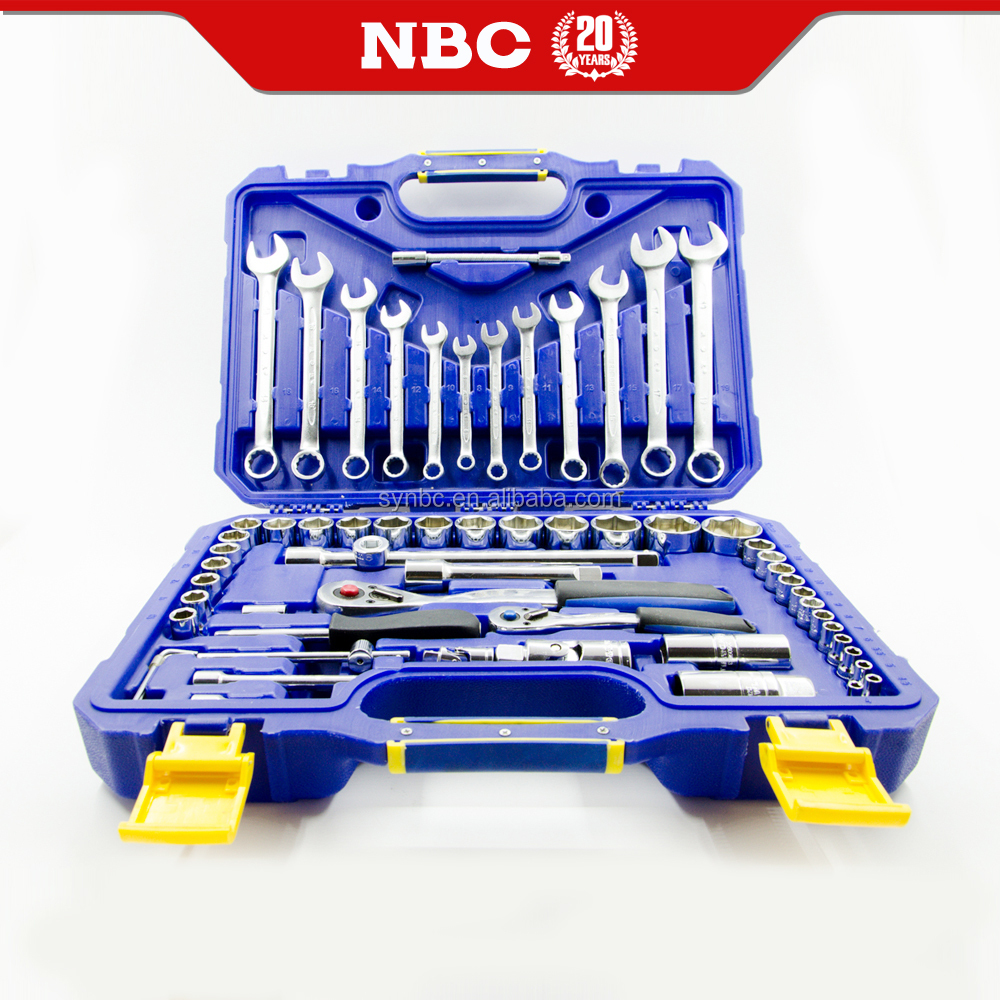60 pieces 6.3mm and 12.5mm Integrated tool kit of vehicle maintenance