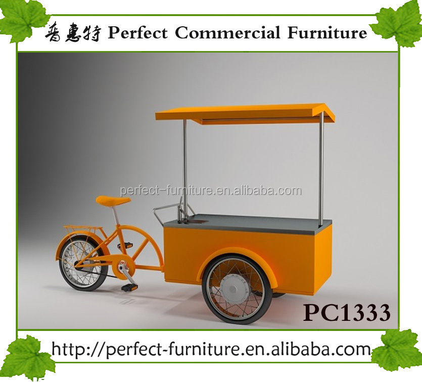 mini drink ice cream kiosk mobile coffee juice bike cart solar commercial