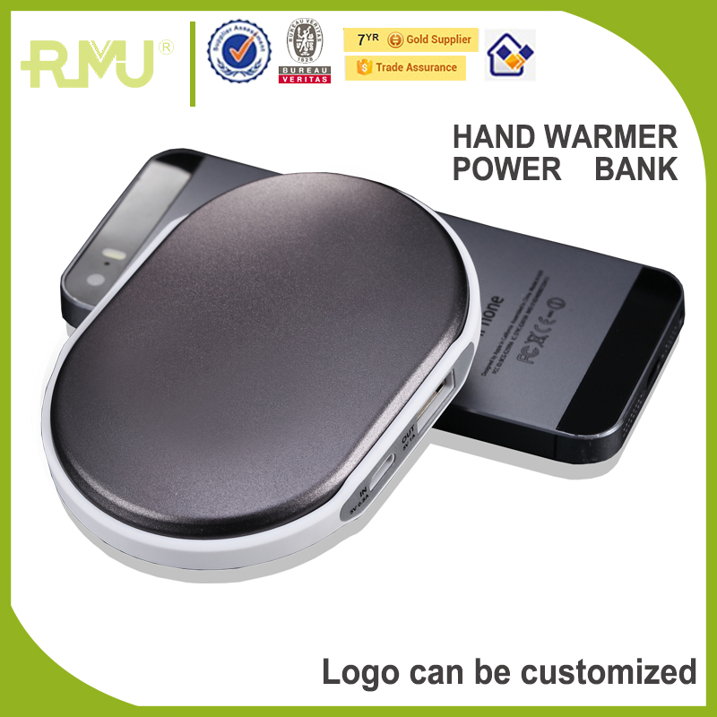 2017 High Quality New Design Powered Hot Pack Power Bank Hand Warmer