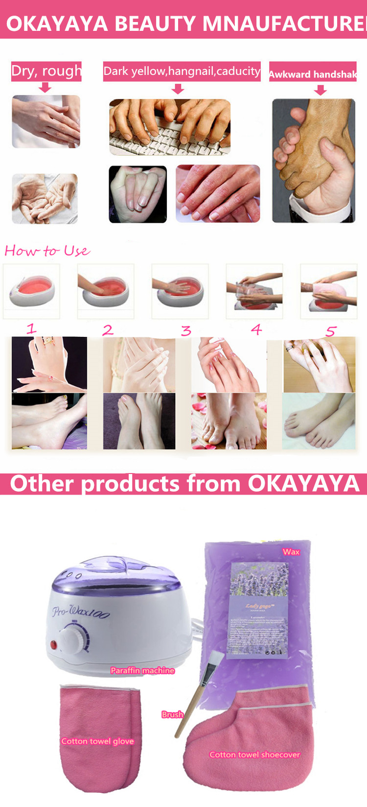 Best paraffin wax bath cosmetic paraffin wax beauty paraffin wax for hand and feet