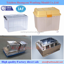 HOT SALE-Polypropylene wheeled large case mould/ABS big storage box with handle mould/Plastic injection container mold