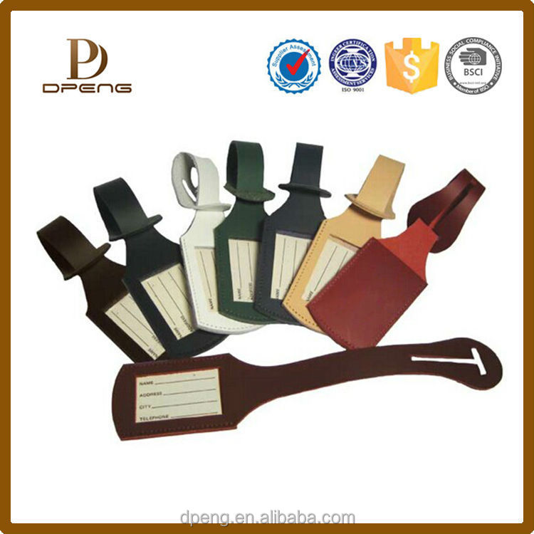 made in China OEM factory colorful gift luggage tag