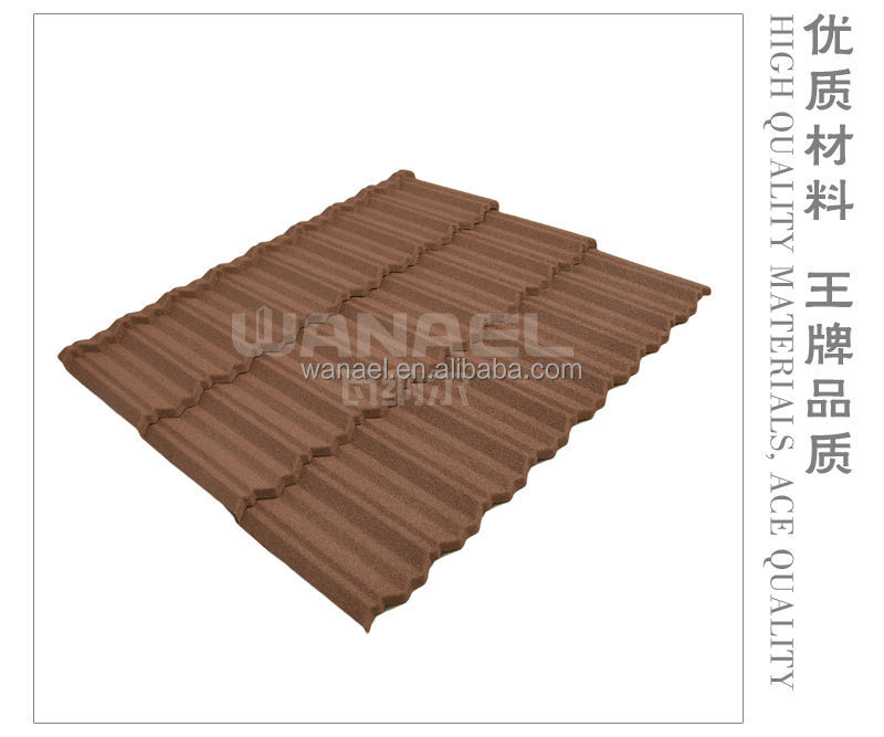 Pioneering Excellent WANAEL Brand Stone Coated Metal Roof Tile