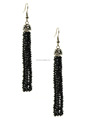 Fashionable black crystal cluster earrings, tiny crystal druzy earring, black crystal drop earring