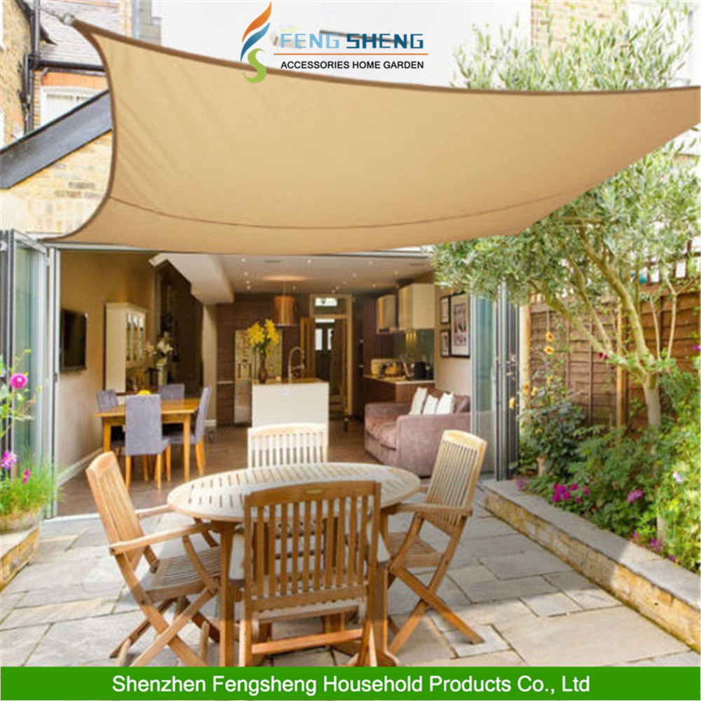3m x 3m Sun Shade Sail Garden Patio Canopy Awning Screen 98% UV Block Sand