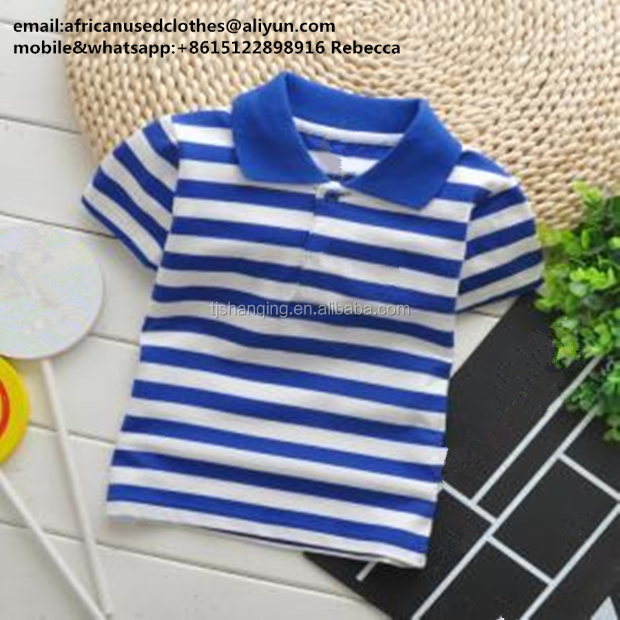 used clothing/ used clothes wholesale,children summer clothes, boys thsirt fashion design