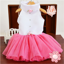 Pet Supplies pink Wedding Skirt Dog Dress