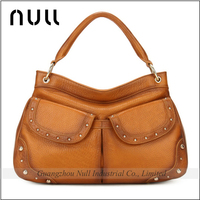 Hot Selling Big Brand Top Layer Cowhide Leather Women Shoes and Handbag Set