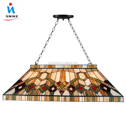 High Quality Custom Attractive Design Stained Glass Tiffany Pool Table Light