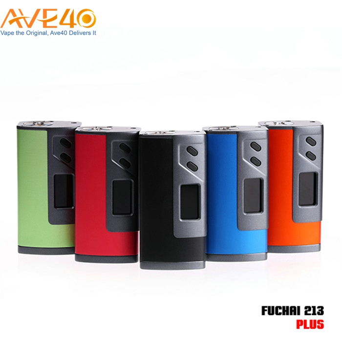 Large Color Screen Electronic Cigarette Mod Express Sigelei Fuchai 213 Plus Box Mod Comes With Sigelei Replacement Parts