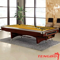 TB solid wood national hot selling TB-US066 superior pool table