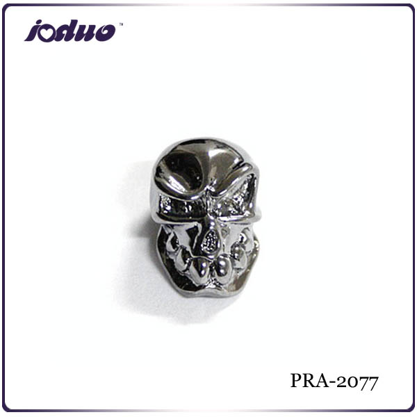 Chromeplated Skull Beads Ornaments for knife lanyards or camping cord PRA-2077