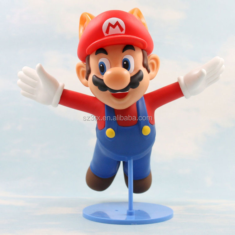 "customized 6"" Super Cute PVC Anime Cartoon Flying game characters vinyl toys"