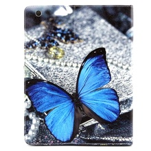 Top Quality Cartoon PU Leather Cover,Direct Suply Turn Left And Right Leather Case For IPad 2/3/4
