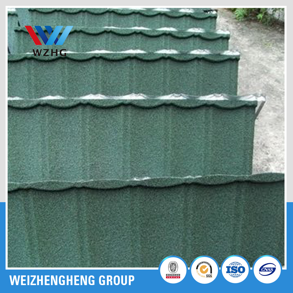 stone coated metal roofing tile 0.4mm steel panel / building material