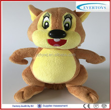 hot sale china stuffded squirrel one piece plush toy