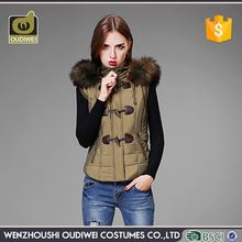 Modern style custom design women winter waistcoat from manufacturer