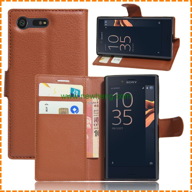 Newest Product Wallet PU Leather Case For Sony X Compact