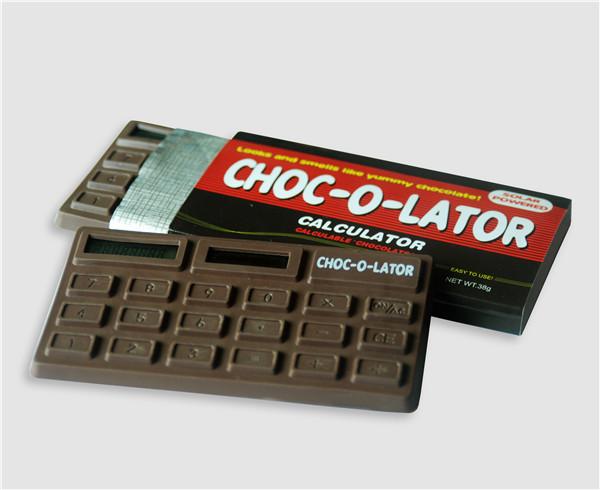Mini Handheld Solar Powered Chocolate Shape Calculator