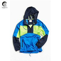 Custom Hooded Colorblocked Pullover Windbreaker