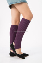 Fashion New In Stock Ladies Girls Wool Acrylic Knitted Open Heel Leg Warmers for Yoga, Dancing and Sport