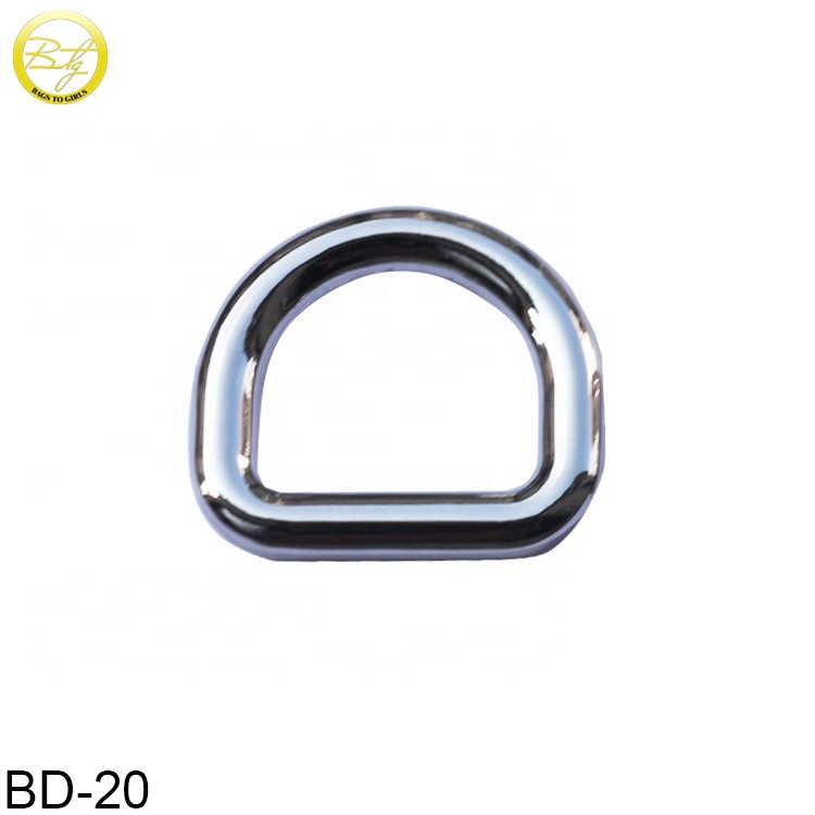 Wholesale bags accessories silver color metal <strong>d</strong> ring garment <strong>d</strong> buckle for purse