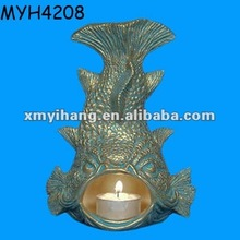 Decorative standing fish candle holders