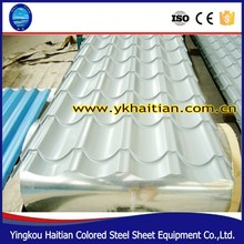 Trade Assurance Roof Material, Best price Zinc coated steel roofing tile, Popular types of roof tiles